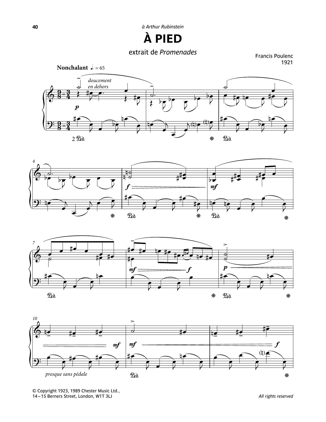 A Pied (Piano Solo)