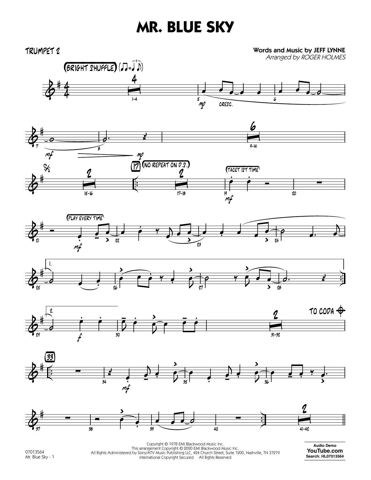 Mr. Blue Sky (arr. Roger Holmes) - Trumpet 2 (Jazz Ensemble)