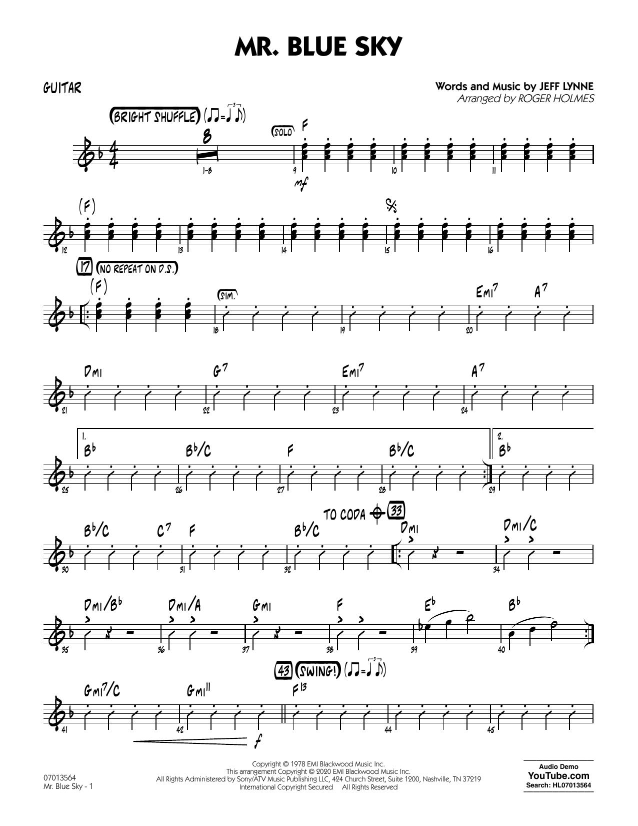 Mr. Blue Sky (arr. Roger Holmes) - Guitar (Jazz Ensemble)