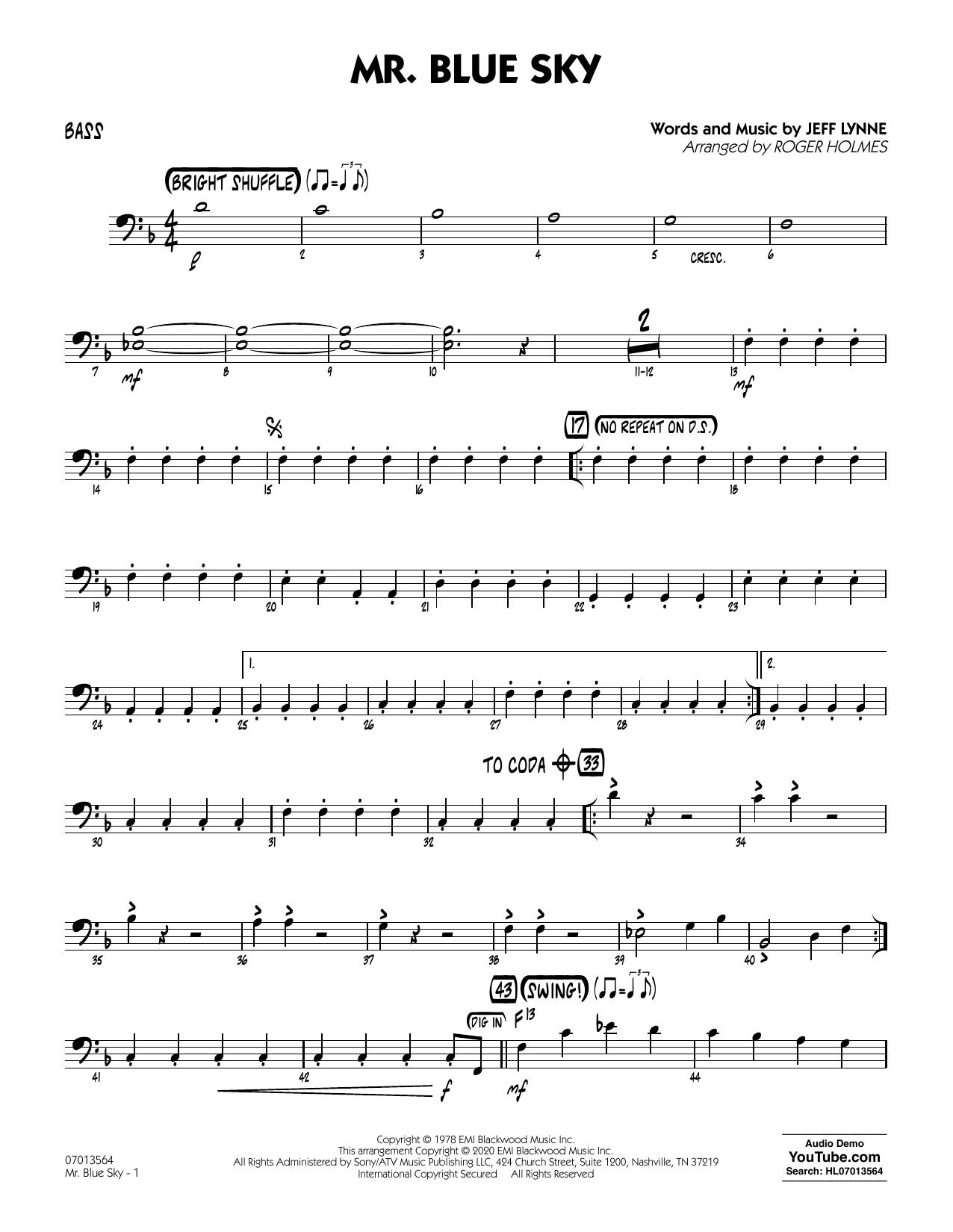 Mr. Blue Sky (arr. Roger Holmes) - Bass (Jazz Ensemble)