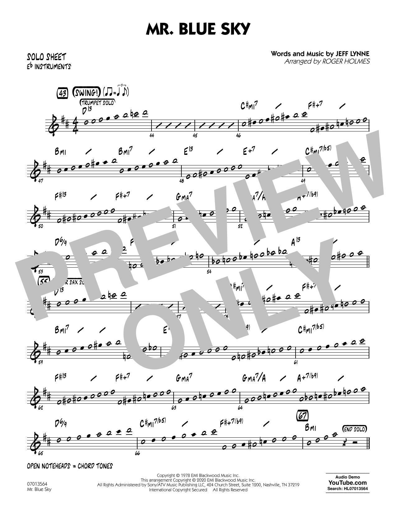 Mr. Blue Sky (arr. Roger Holmes) - Eb Solo Sheet (Jazz Ensemble)
