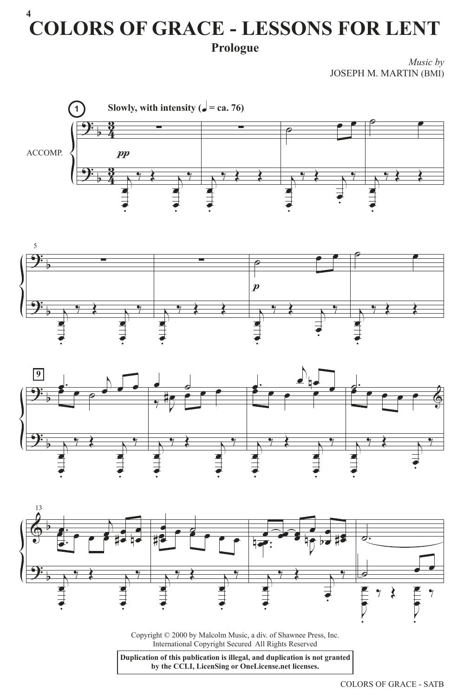Colors of Grace - Lessons for Lent (New Edition) (SATB Choir)
