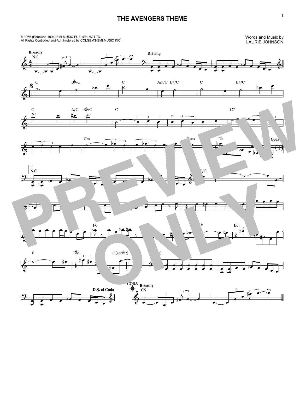 Sheet Music Digital Files To Print - Licensed Laurie Johnson
