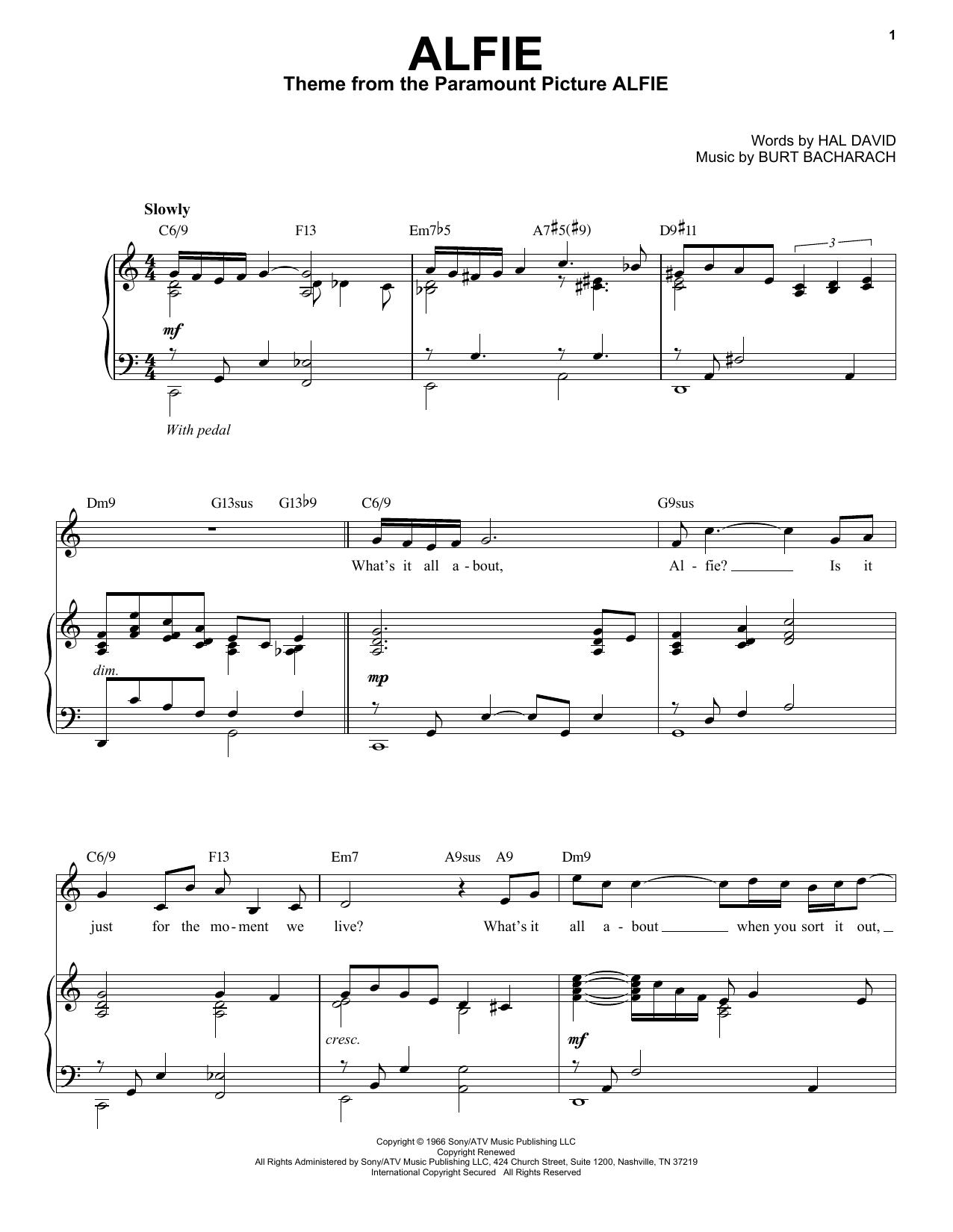 Alfie [Jazz version] (arr. Brent Edstrom) (Piano & Vocal)