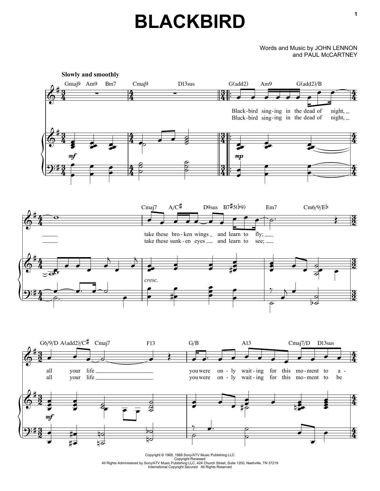 Blackbird [Jazz version] (arr. Brent Edstrom) (Piano & Vocal)