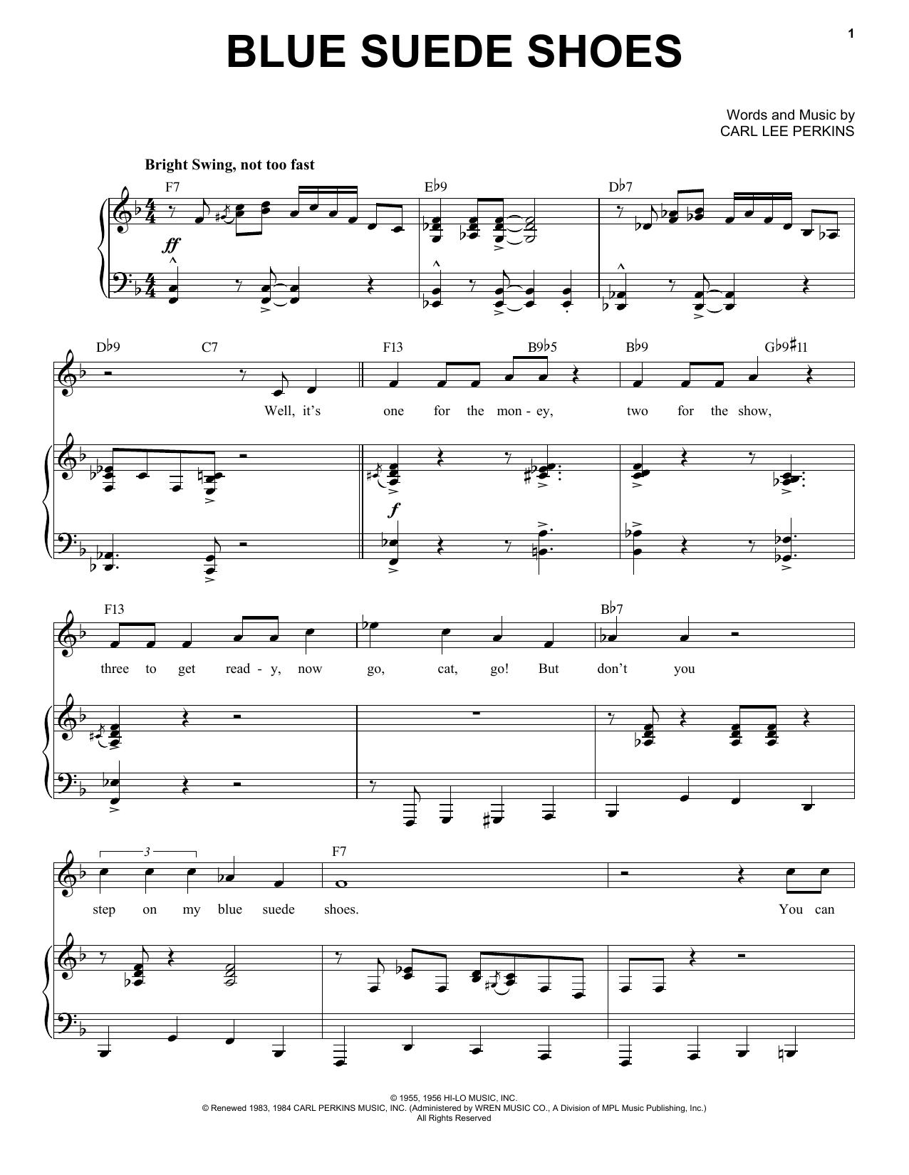 Blue Suede Shoes [Jazz version] (arr. Brent Edstrom) (Piano & Vocal)
