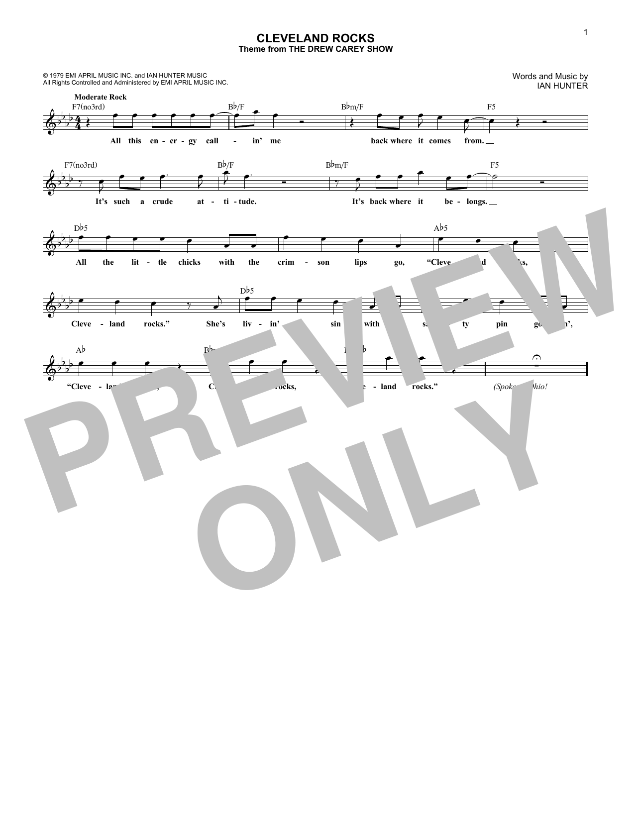 Cleveland Rocks Sheet Music