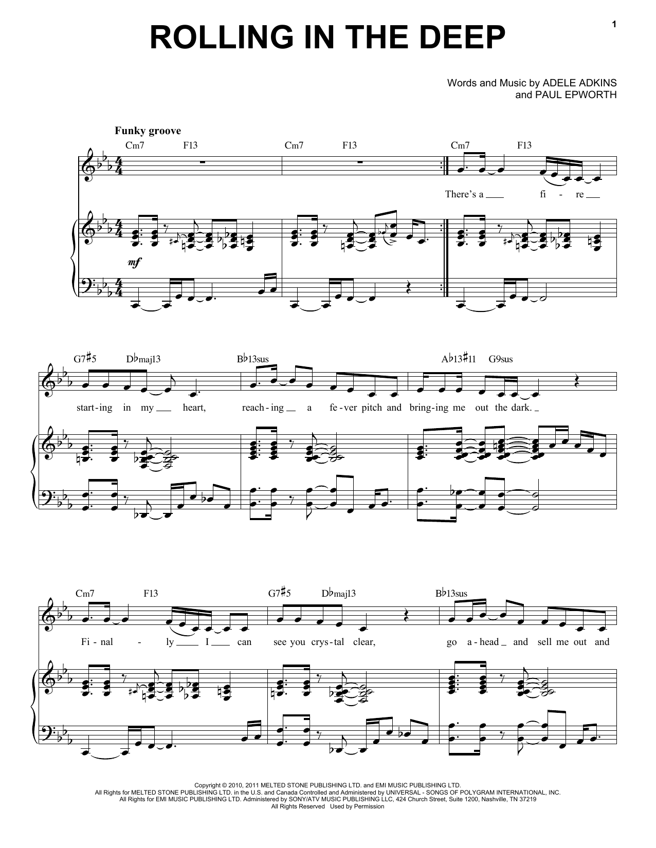 Rolling In The Deep [Jazz version] (arr. Brent Edstrom) (Piano & Vocal)