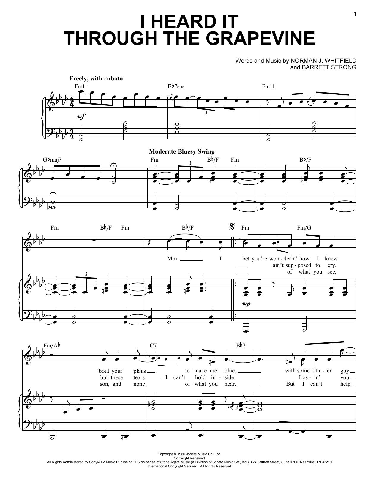 I Heard It Through The Grapevine [Jazz version] (arr. Brent Edstrom) (Piano & Vocal)