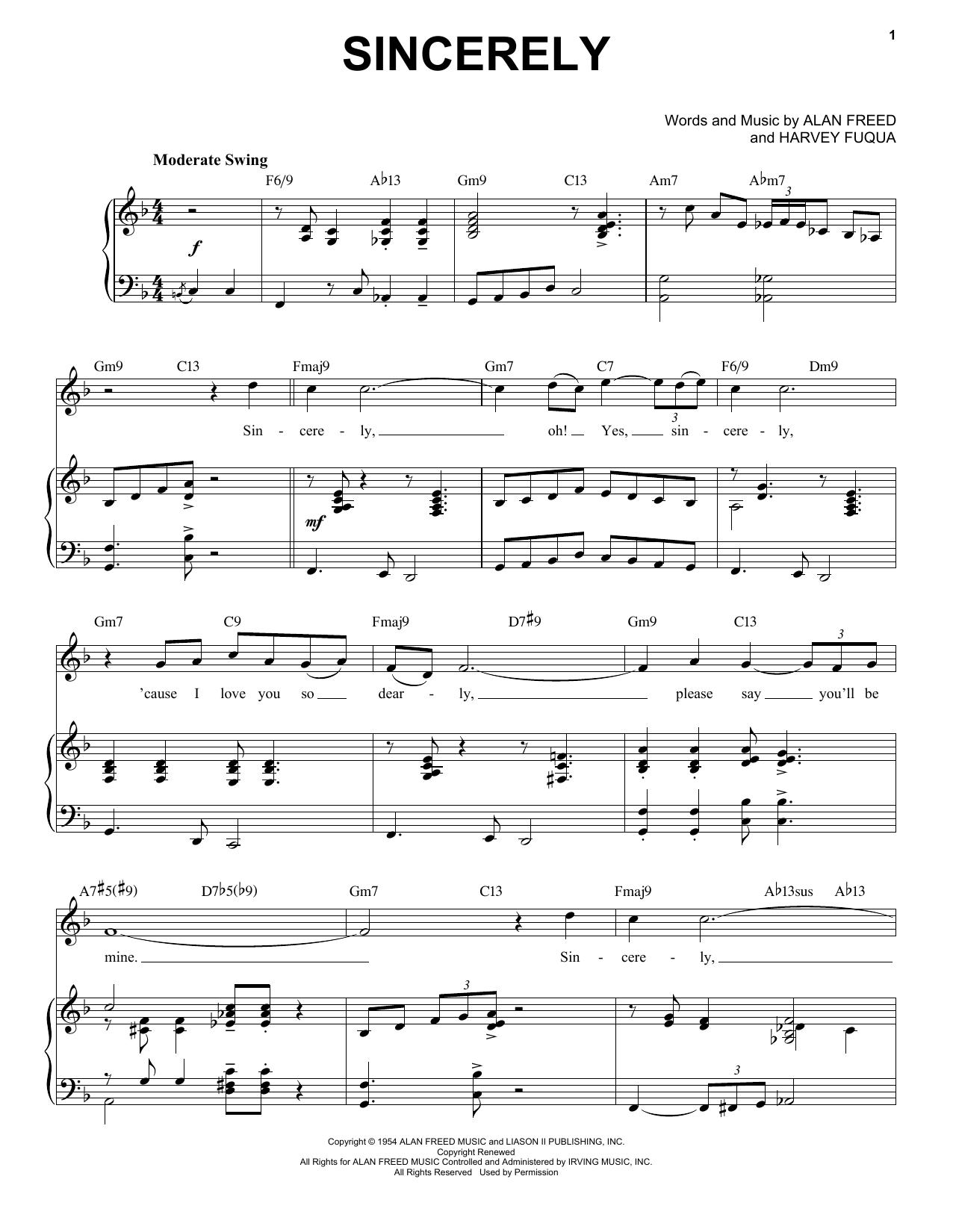 Sincerely [Jazz version] (arr. Brent Edstrom) (Piano & Vocal)