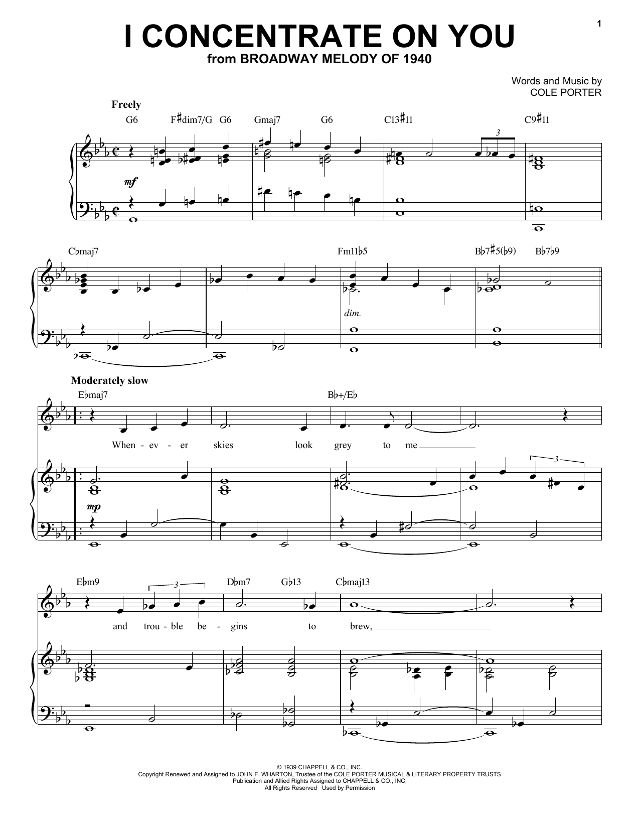 I Concentrate On You [Jazz version] (from Broadway Melody Of 1940) (arr. Brent Edstrom) (Piano & Vocal)
