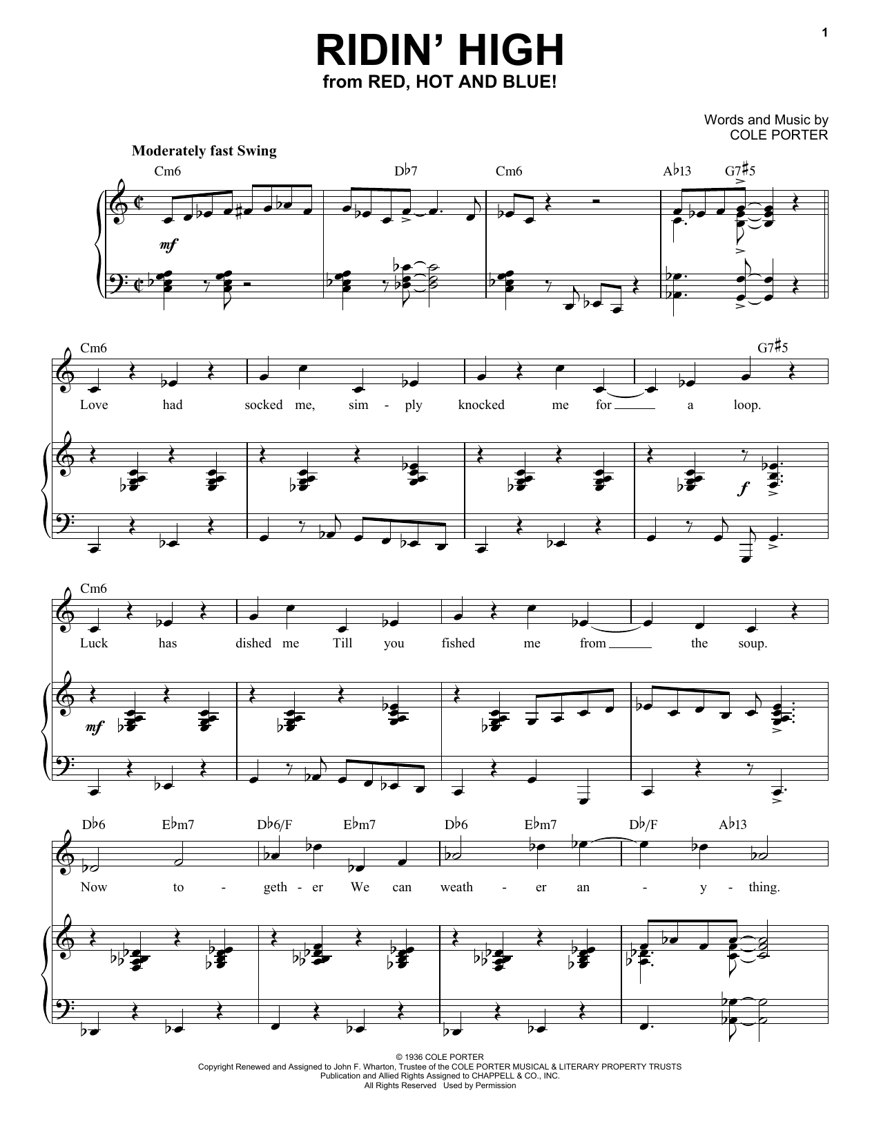 Ridin' High [Jazz version] (from Red, Hot And Blue!) (arr. Brent Edstrom) (Piano & Vocal)