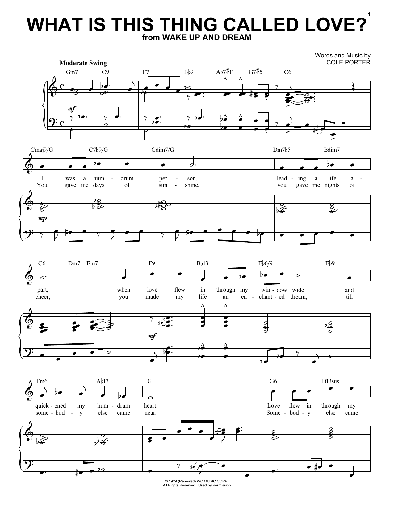 What Is This Thing Called Love? [Jazz version] (from Wake Up And Dream) (arr. Brent Edstrom) (Piano & Vocal)