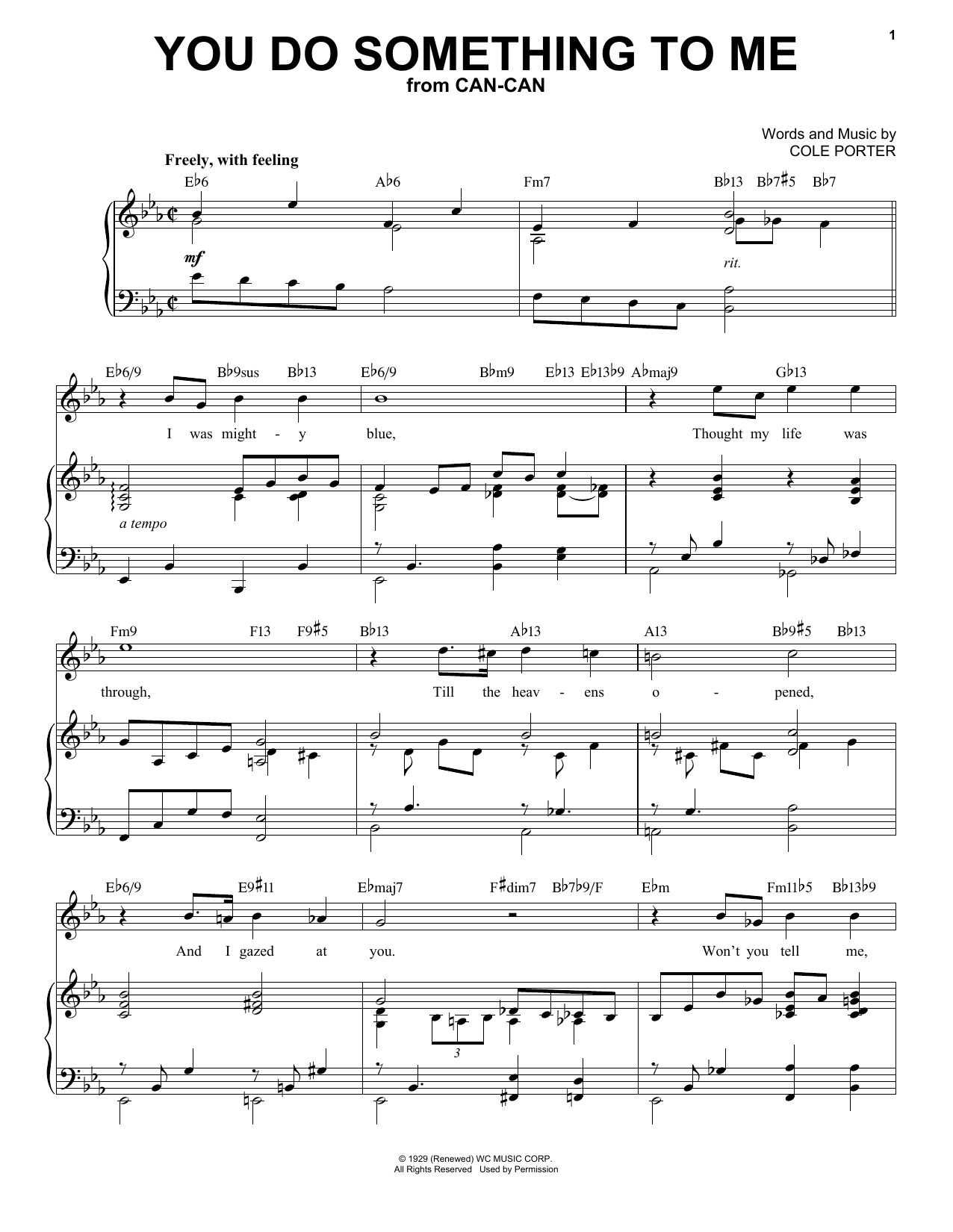 You Do Something To Me [Jazz version] (from Can-Can) (arr. Brent Edstrom) (Piano & Vocal)