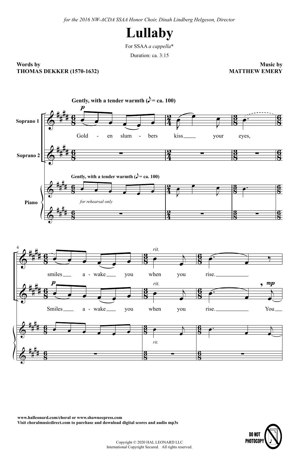 Lullaby (SSAA Choir)
