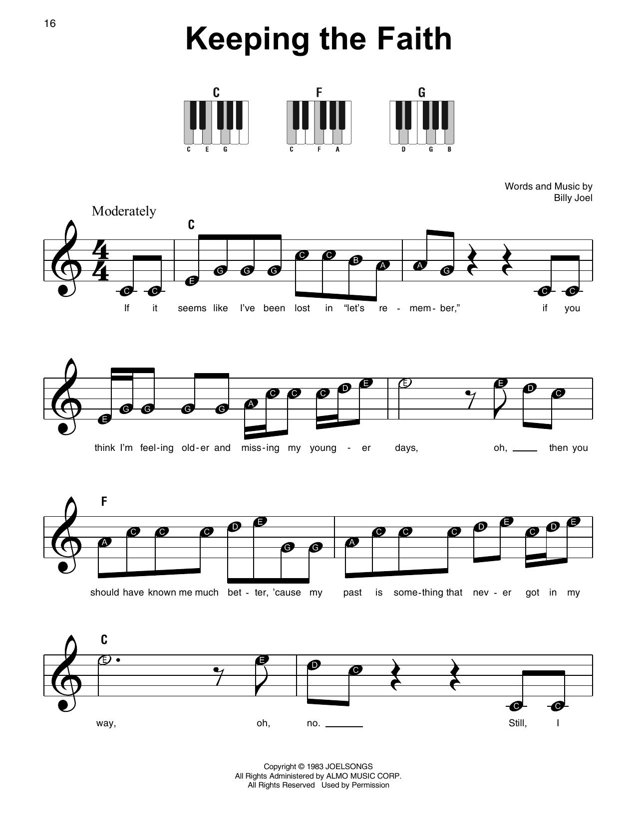 Keeping The Faith (Super Easy Piano)