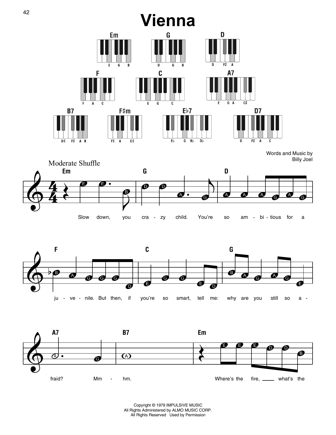 Vienna (Super Easy Piano)