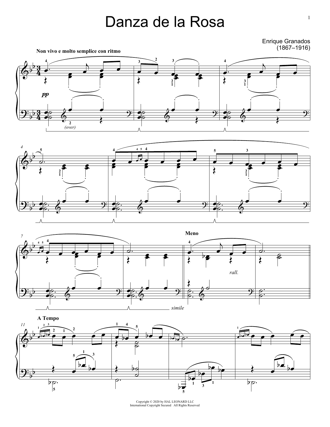 Danza de la Rosa (Educational Piano)