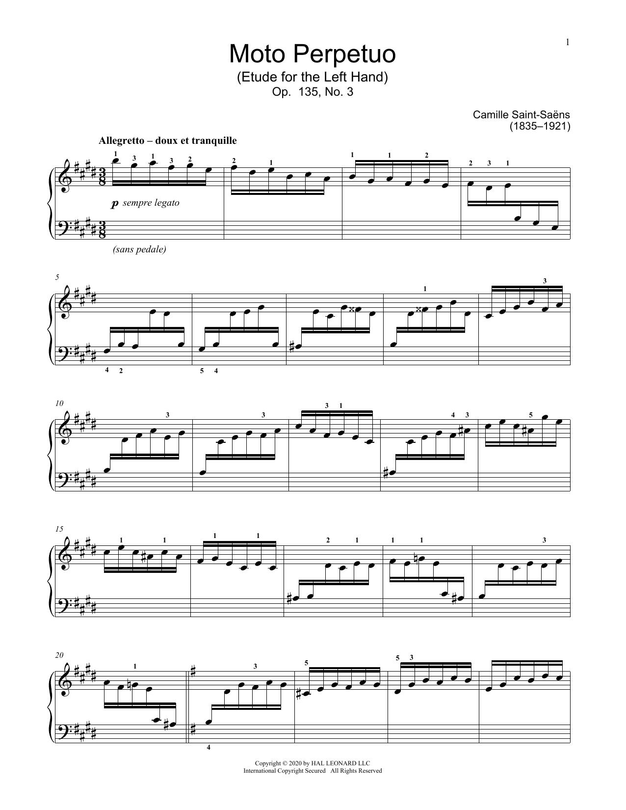 Moto Perpetuo, Op. 135, No. 3 (Educational Piano)
