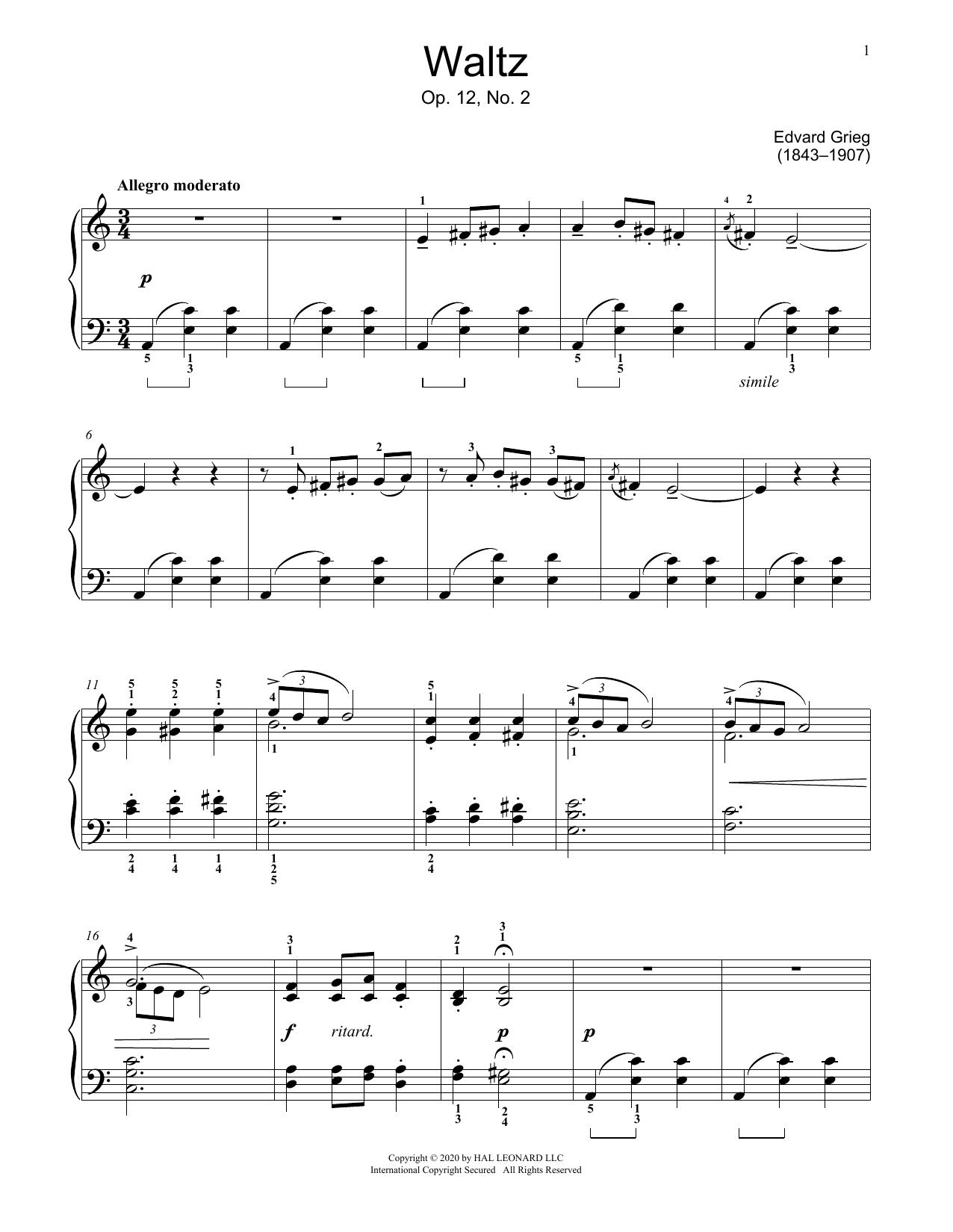 Waltz, Op. 12, No. 2 (Educational Piano)