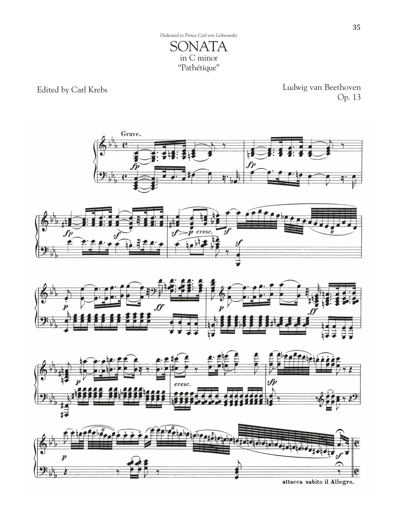 "Piano Sonata No. 8, Op. 13 (""Pathetique"") (Piano Solo)"