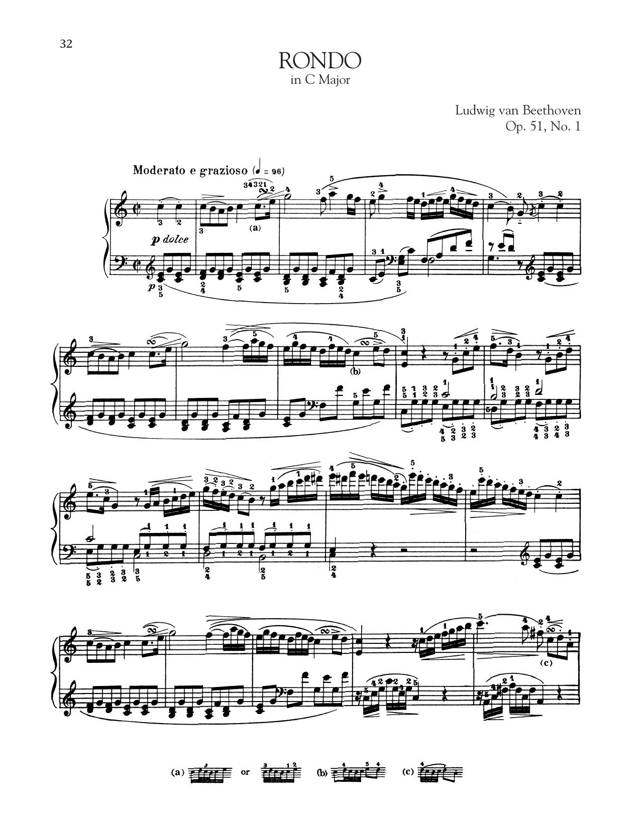 Rondo In C Major, Op. 51, No. 1 (Piano Solo)