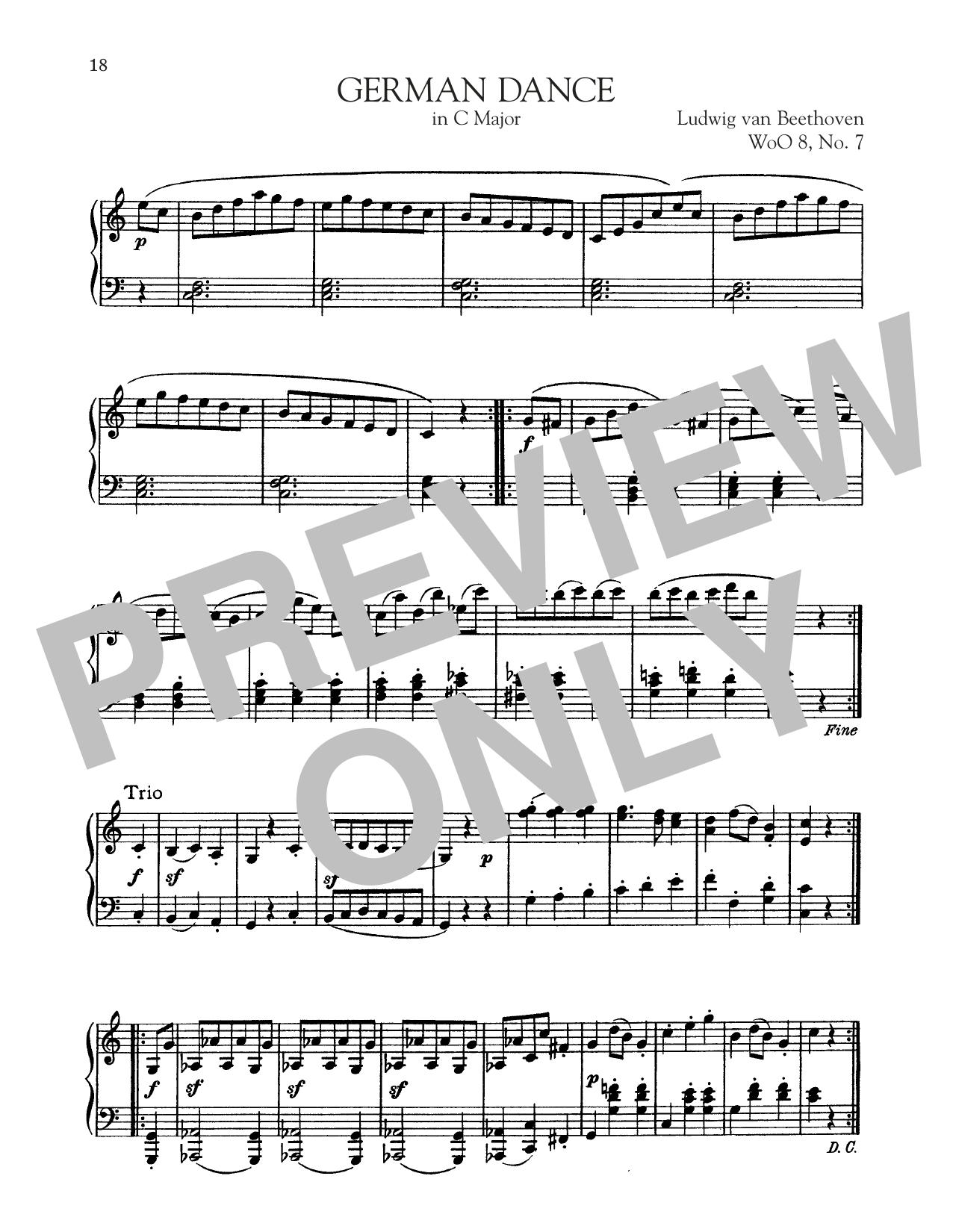 German Dance In C Major, WoO 8, No. 7 (Piano Solo)
