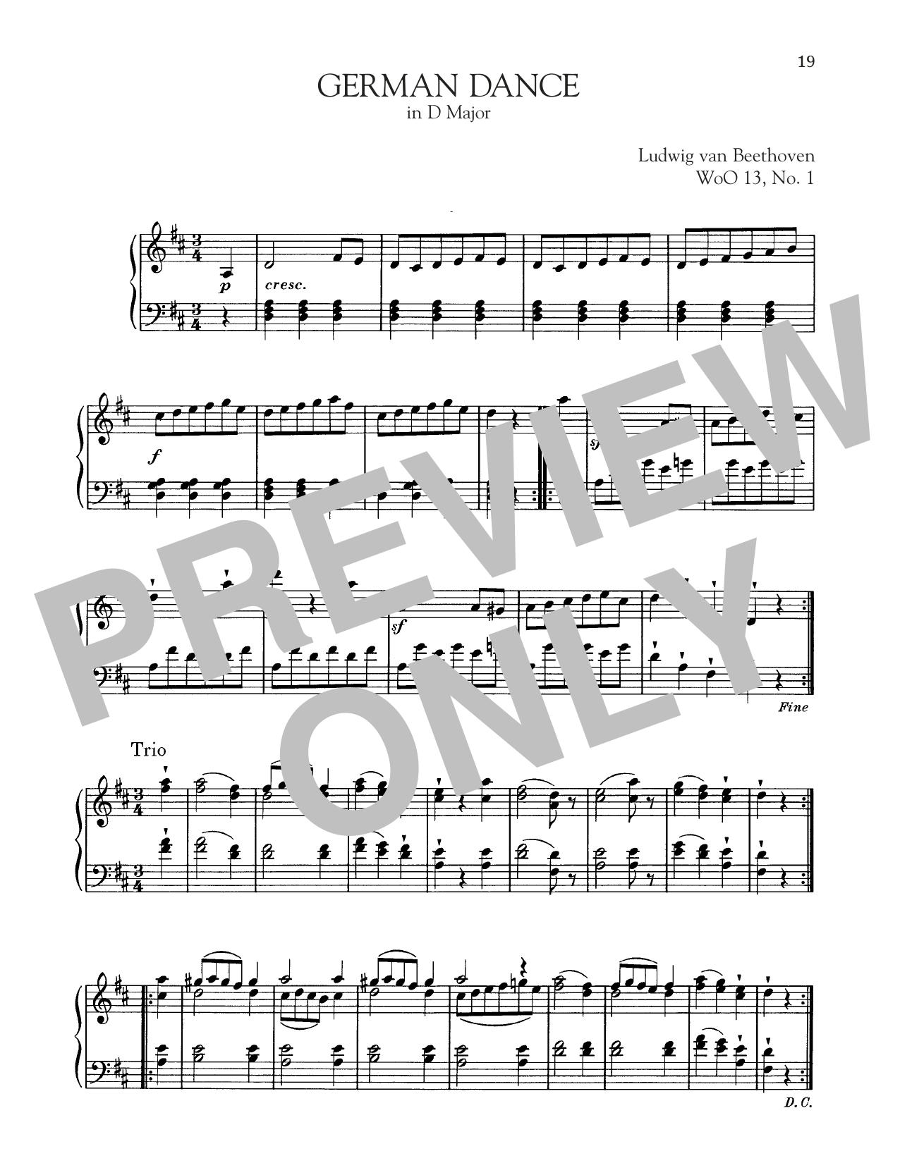 German Dance In D Major, WoO 13, No. 1 (Piano Solo)
