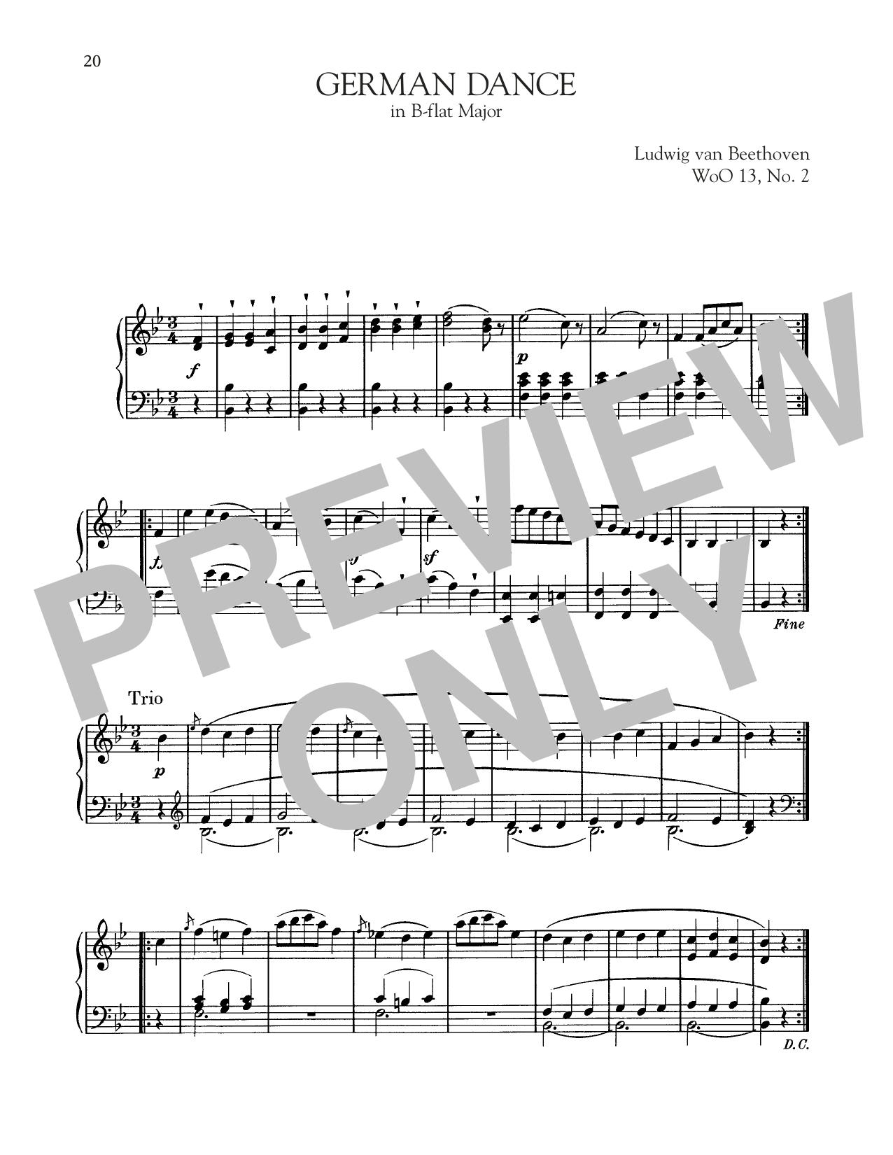 German Dance In B-Flat Major, WoO 13, No. 2 (Piano Solo)