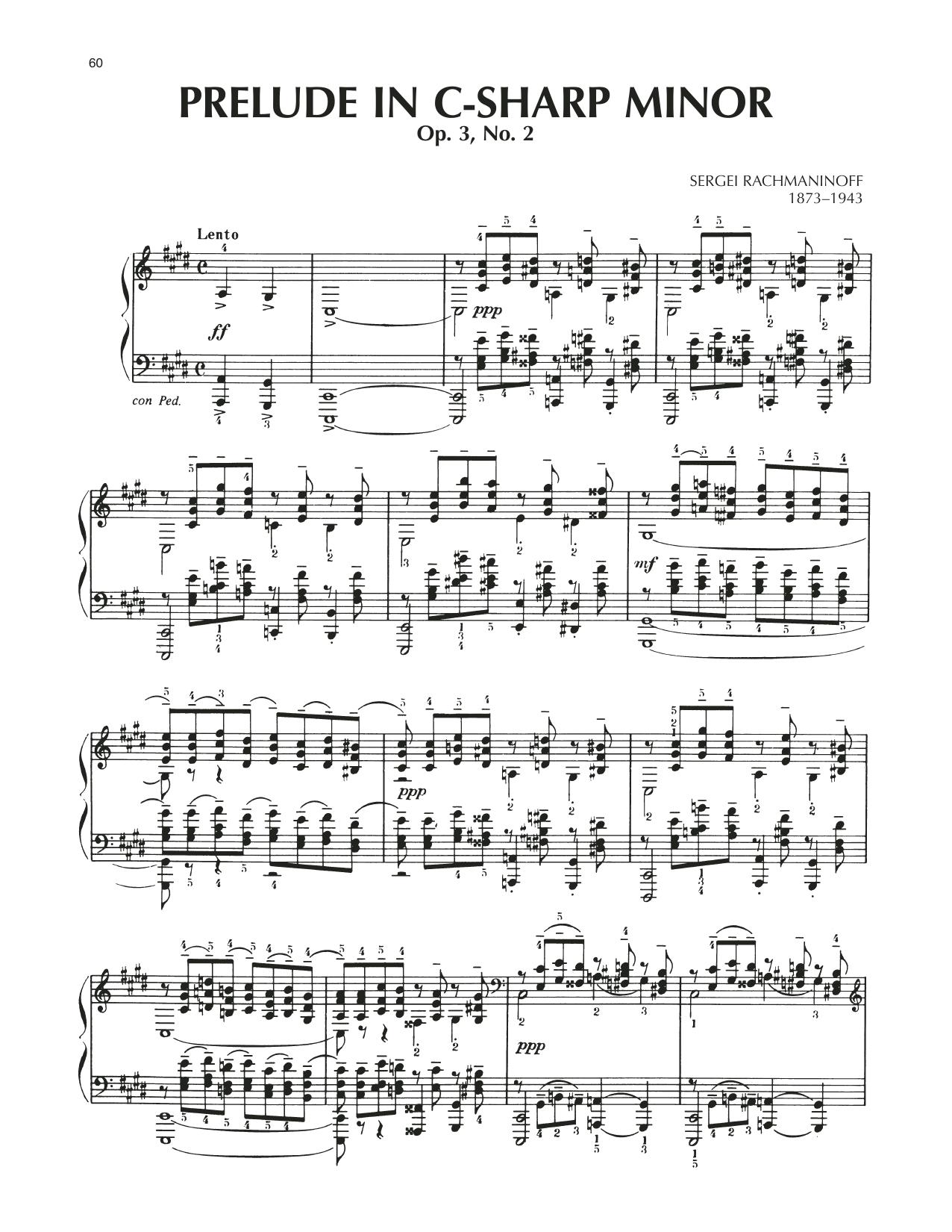 Prelude In C-Sharp Minor, Op. 3, No. 2 (Piano Solo)