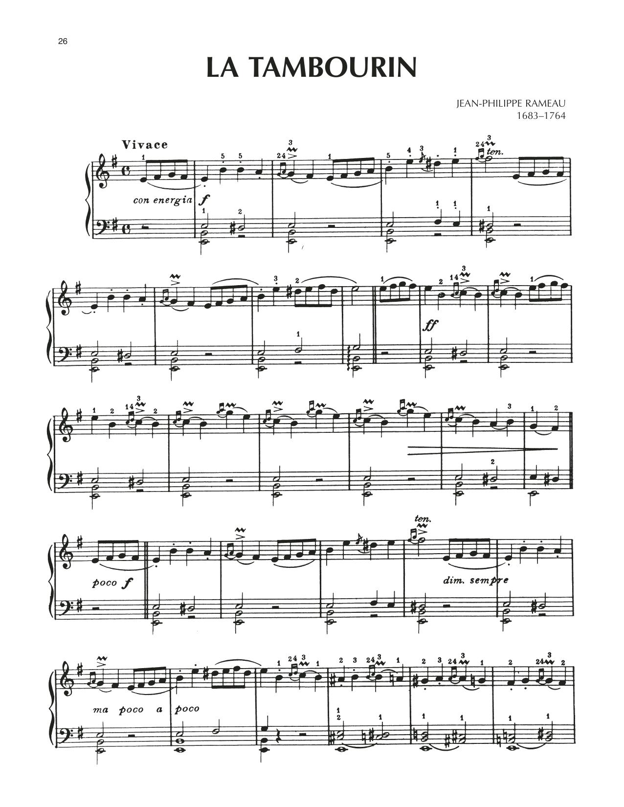 La Tambourin (Piano Solo)