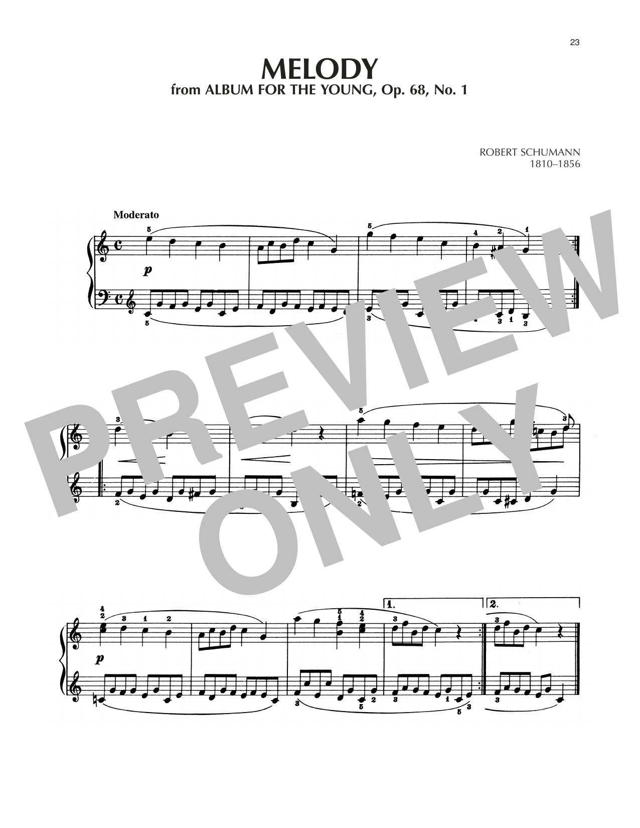 Melody, Op. 68, No. 1 Sheet Music