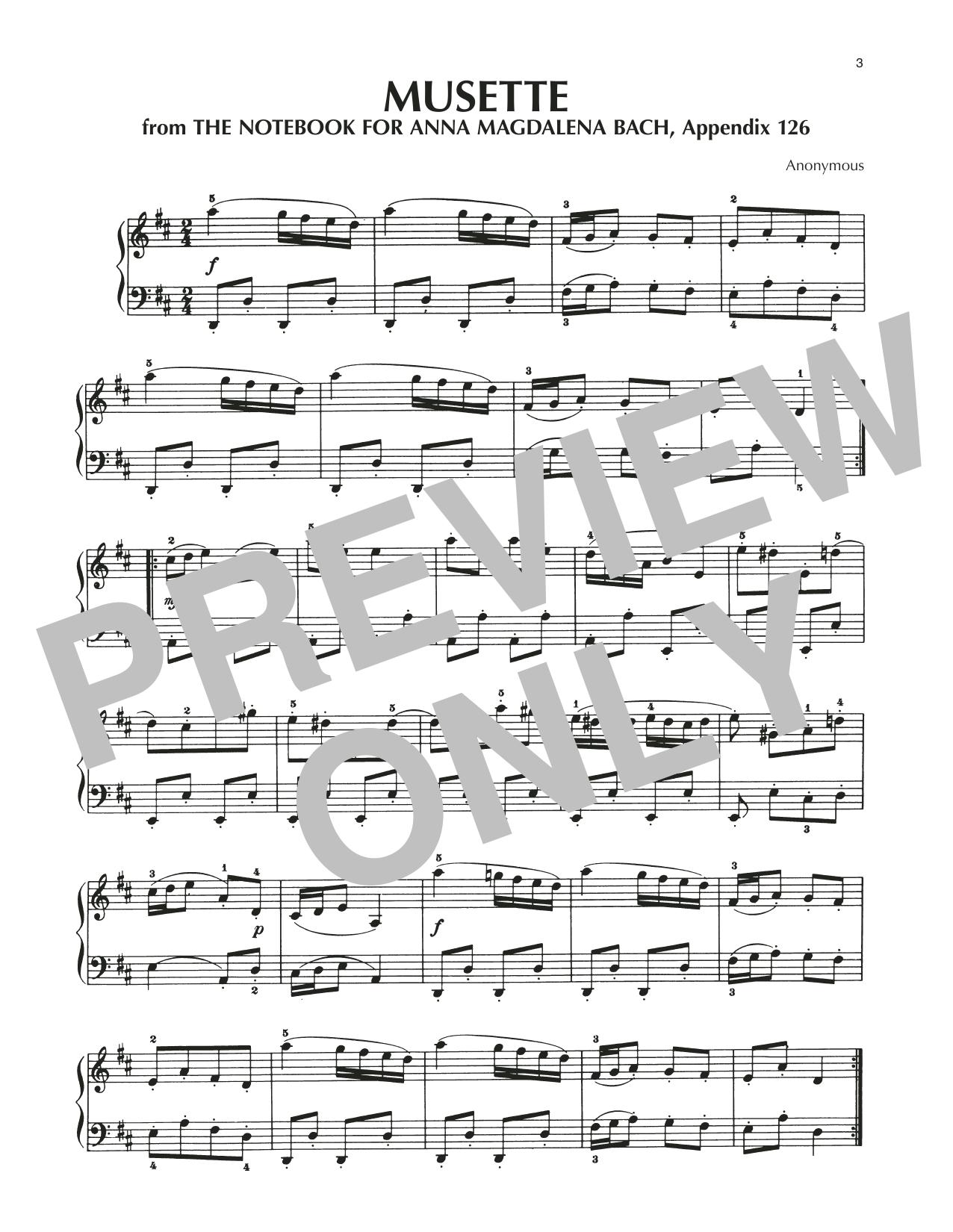 Musette In D Major, BWV Appendix 126 Sheet Music