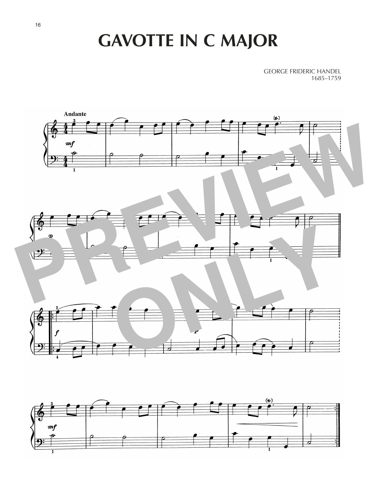 Gavotte In C Major Sheet Music