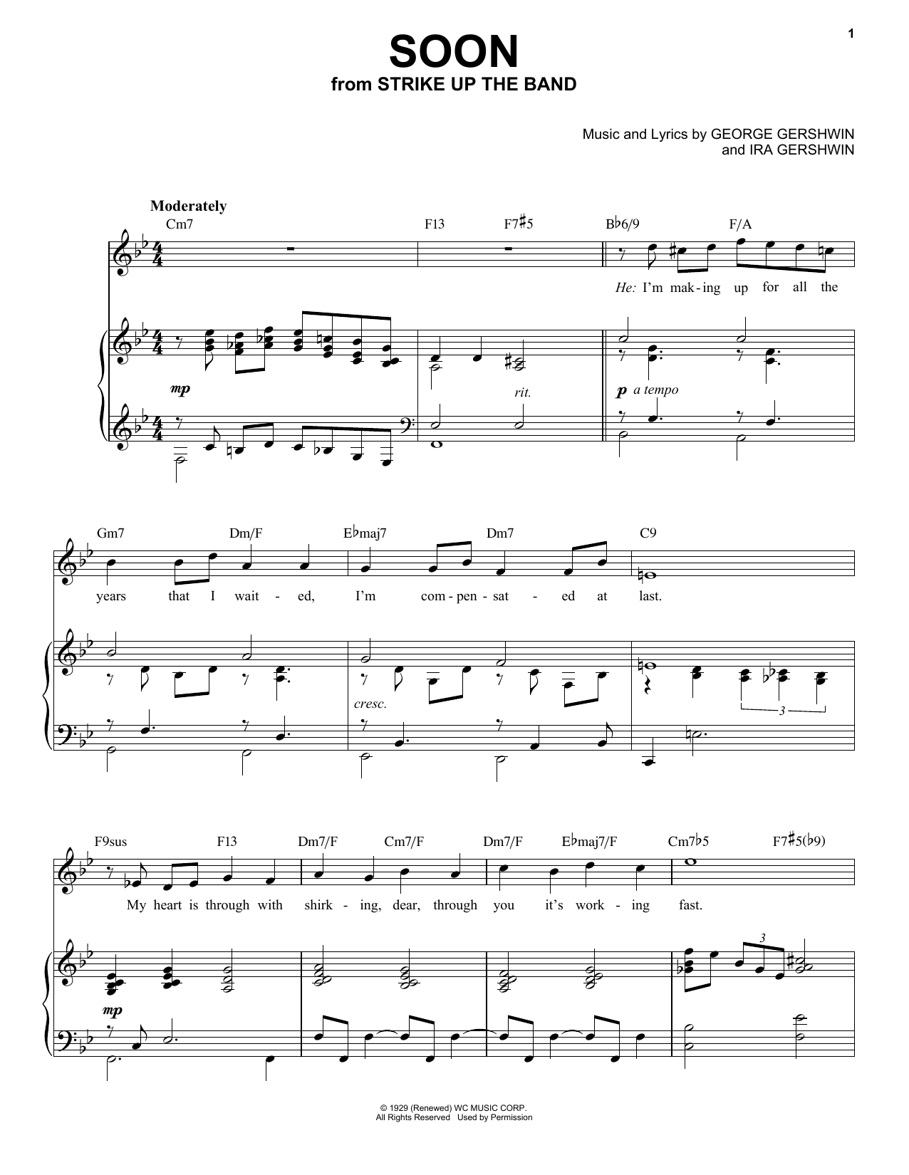 Soon [Jazz version] (arr. Brent Edstrom) (Piano & Vocal)