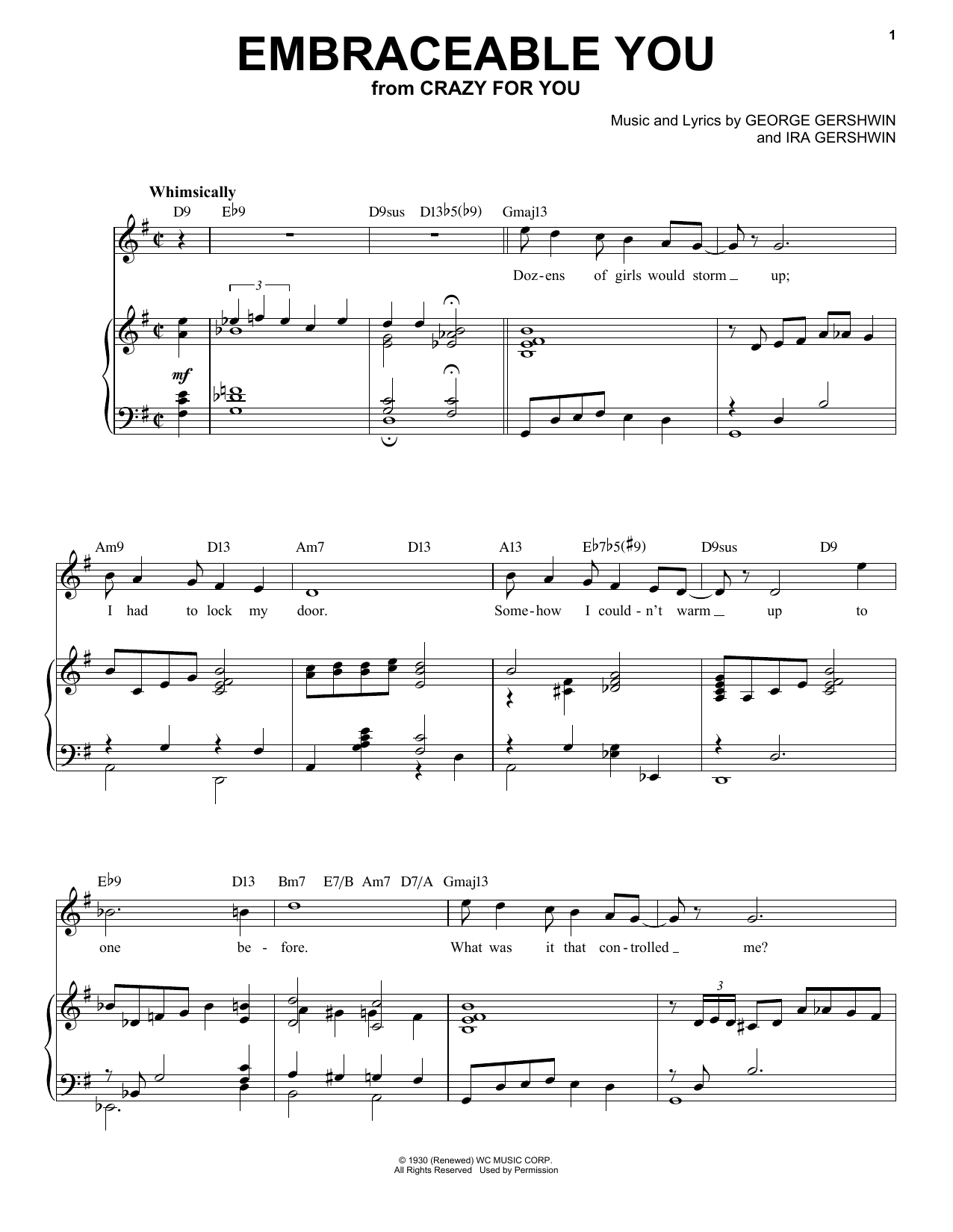Embraceable You [Jazz version] (arr. Brent Edstrom) Sheet Music