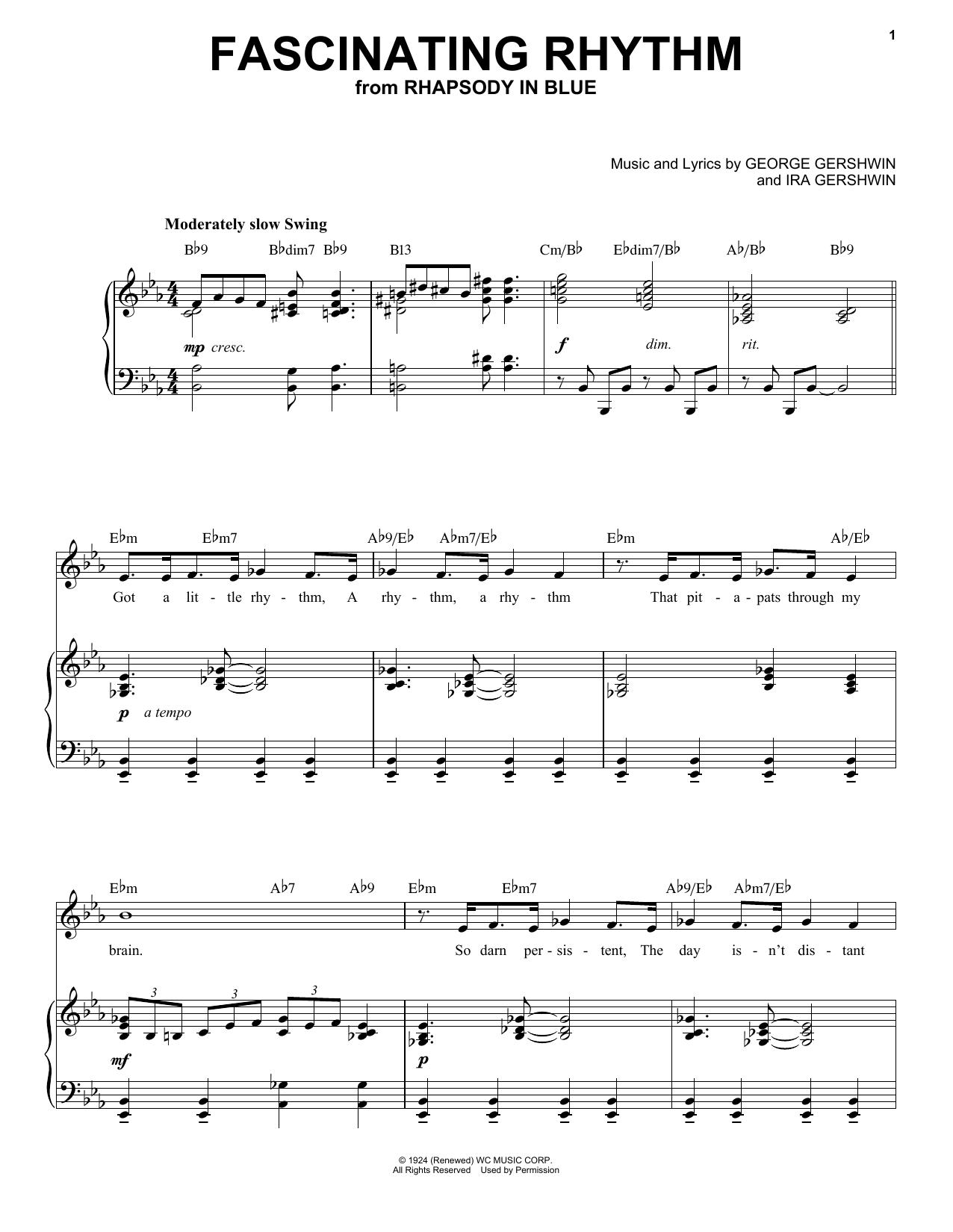 Fascinating Rhythm [Jazz version] (arr. Brent Edstrom) (Piano & Vocal)
