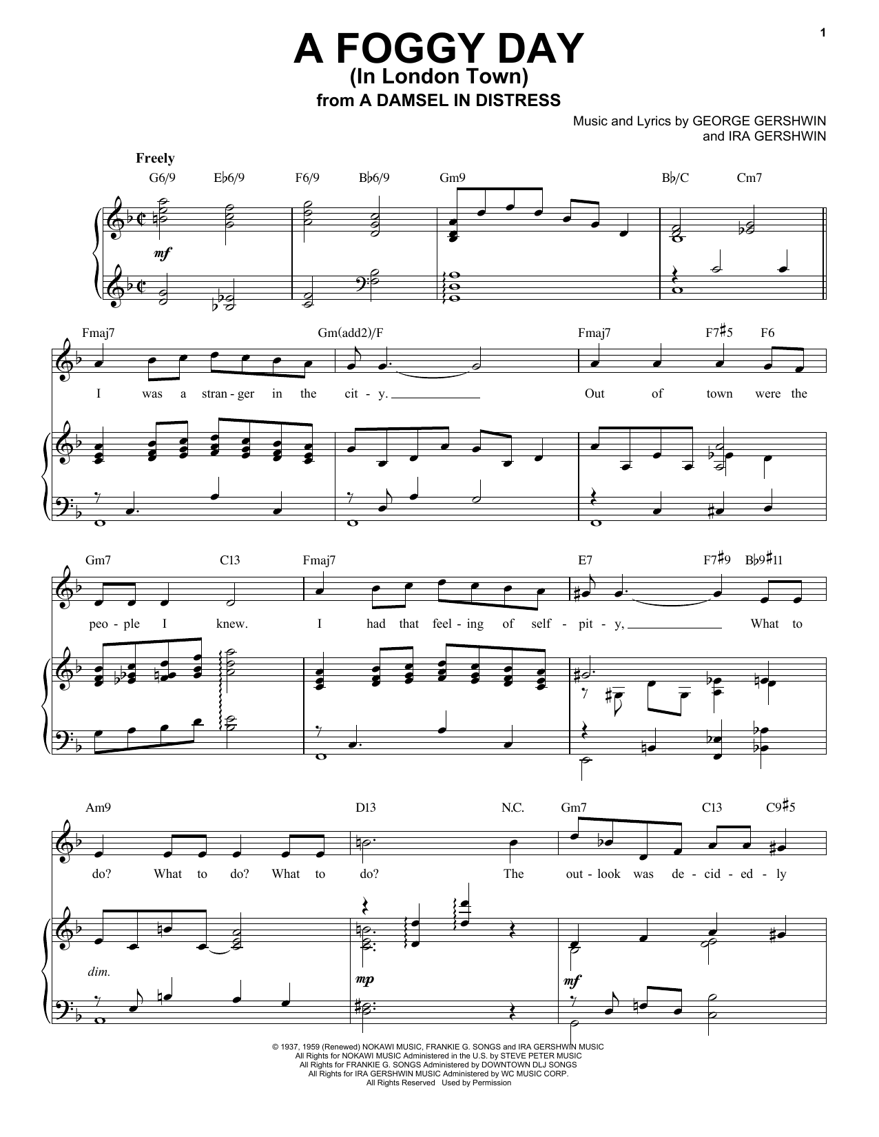 A Foggy Day (In London Town) [Jazz version] (arr. Brent Edstrom) (Piano & Vocal)