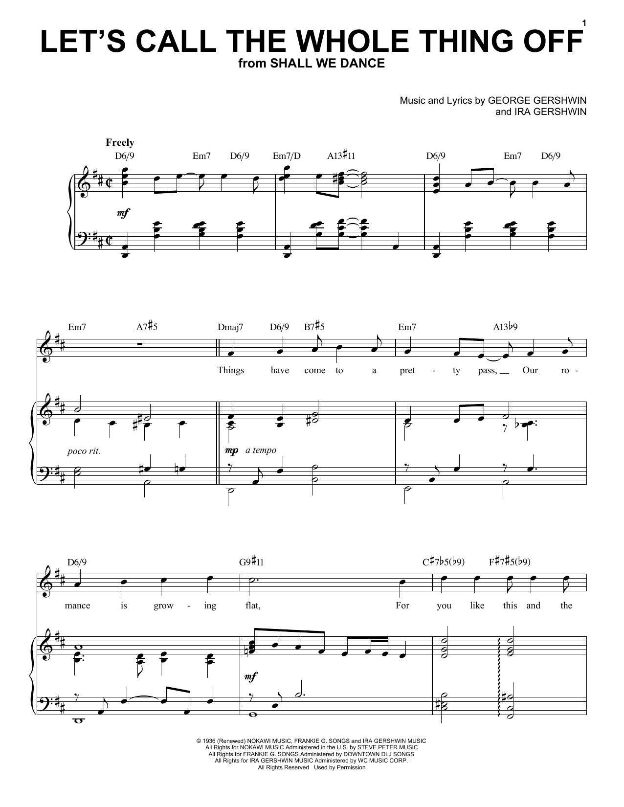 Let's Call The Whole Thing Off [Jazz version] (arr. Brent Edstrom) (Piano & Vocal)