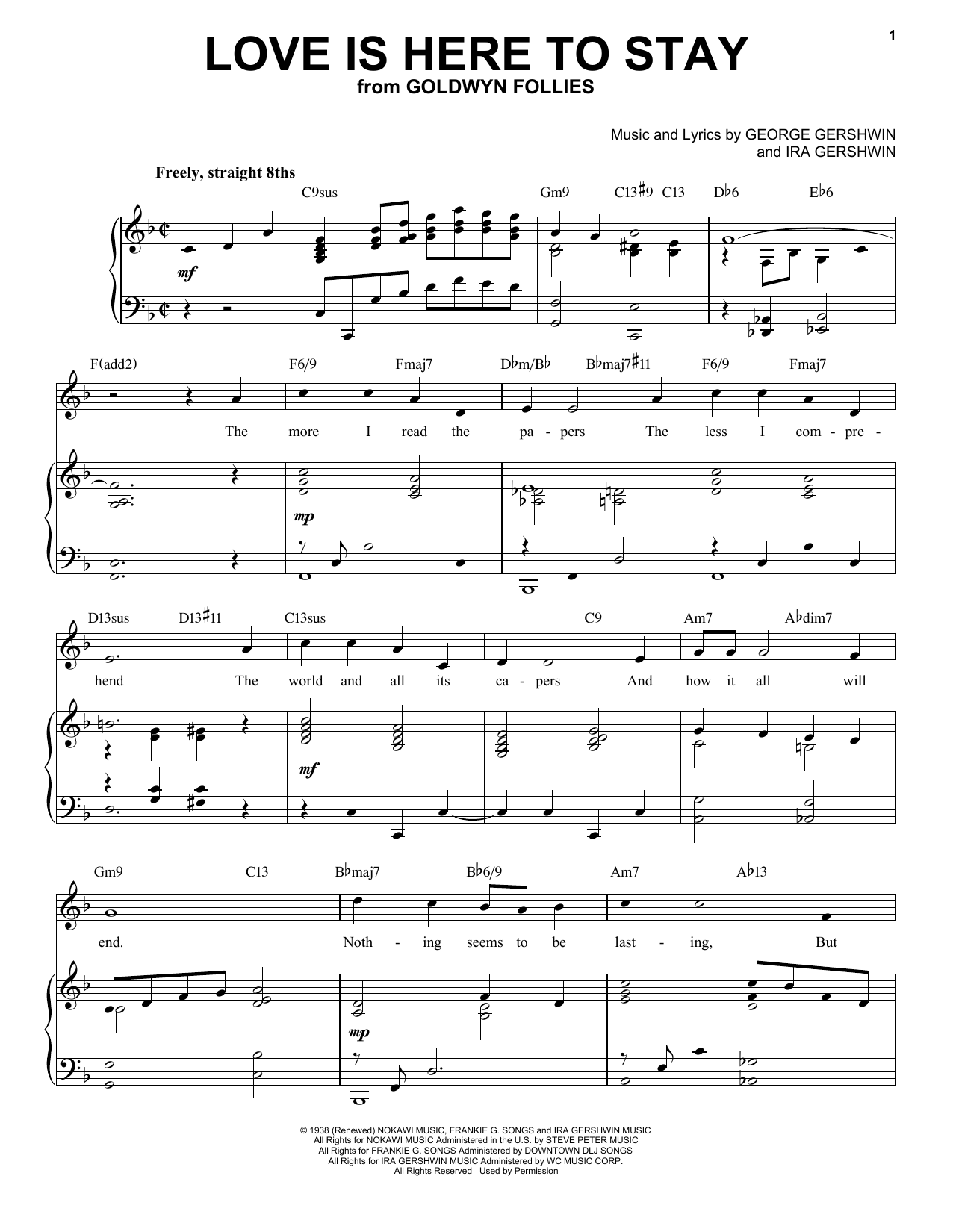 Love Is Here To Stay [Jazz version] (arr. Brent Edstrom) (Piano & Vocal)