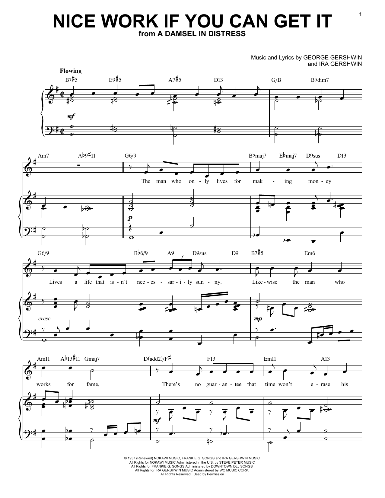 Nice Work If You Can Get It [Jazz version] (arr. Brent Edstrom) (Piano & Vocal)