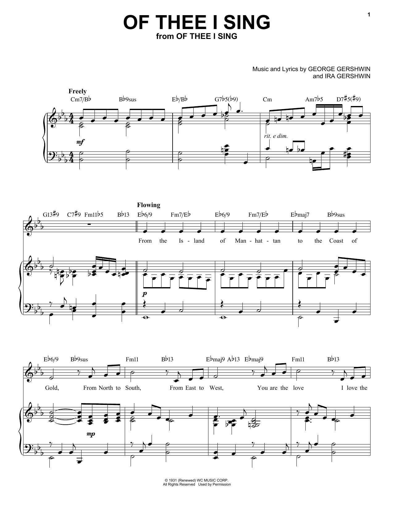 Of Thee I Sing [Jazz version] (arr. Brent Edstrom) Sheet Music