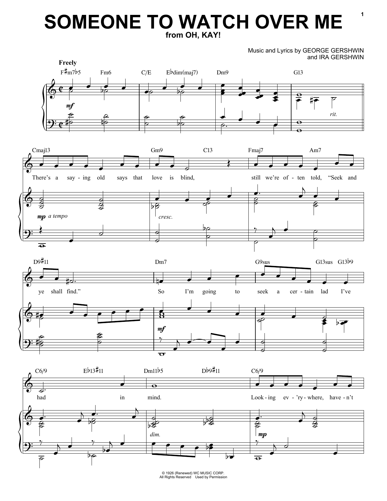 Someone To Watch Over Me [Jazz version] (arr. Brent Edstrom) (Piano & Vocal)