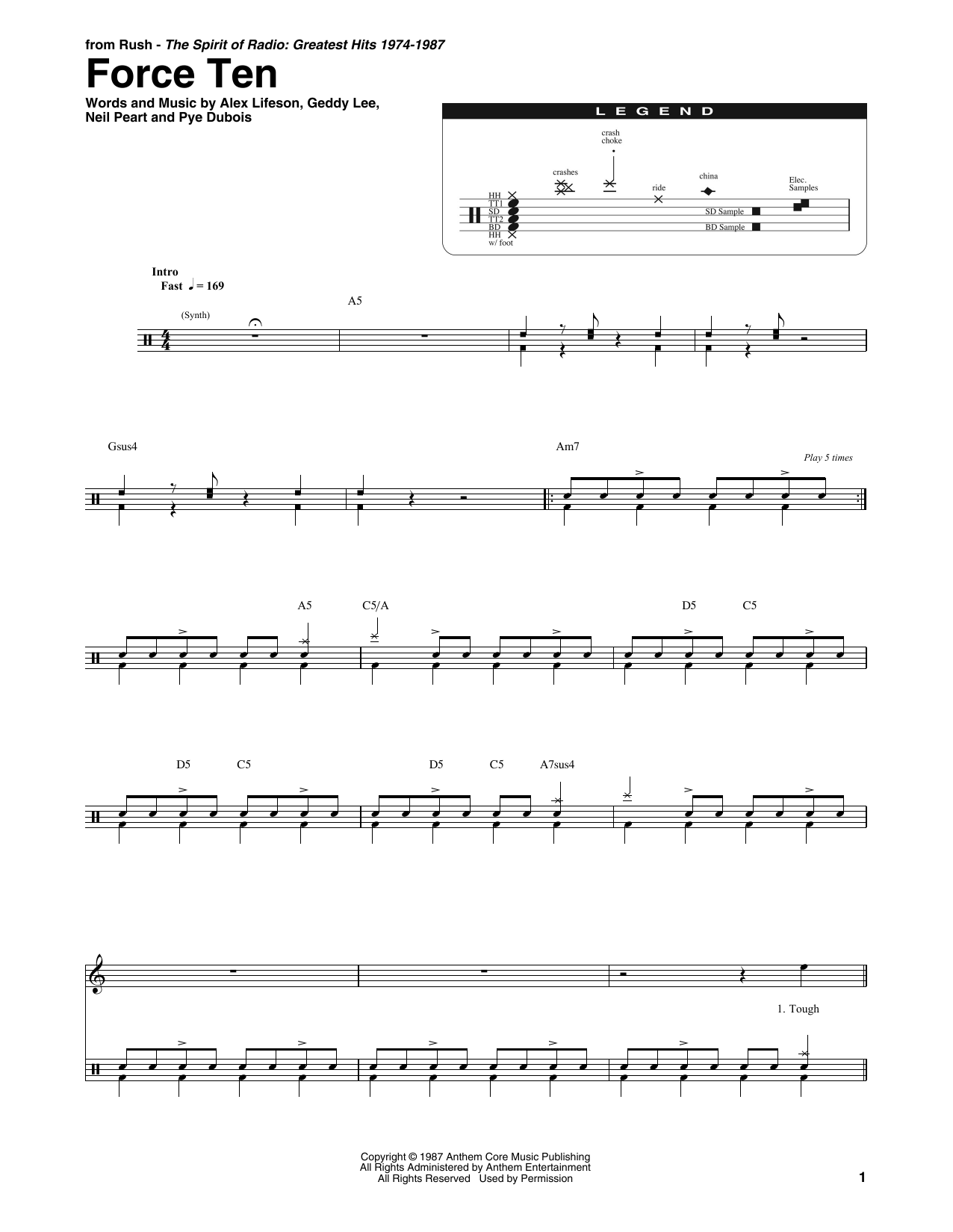 Force Ten Sheet Music