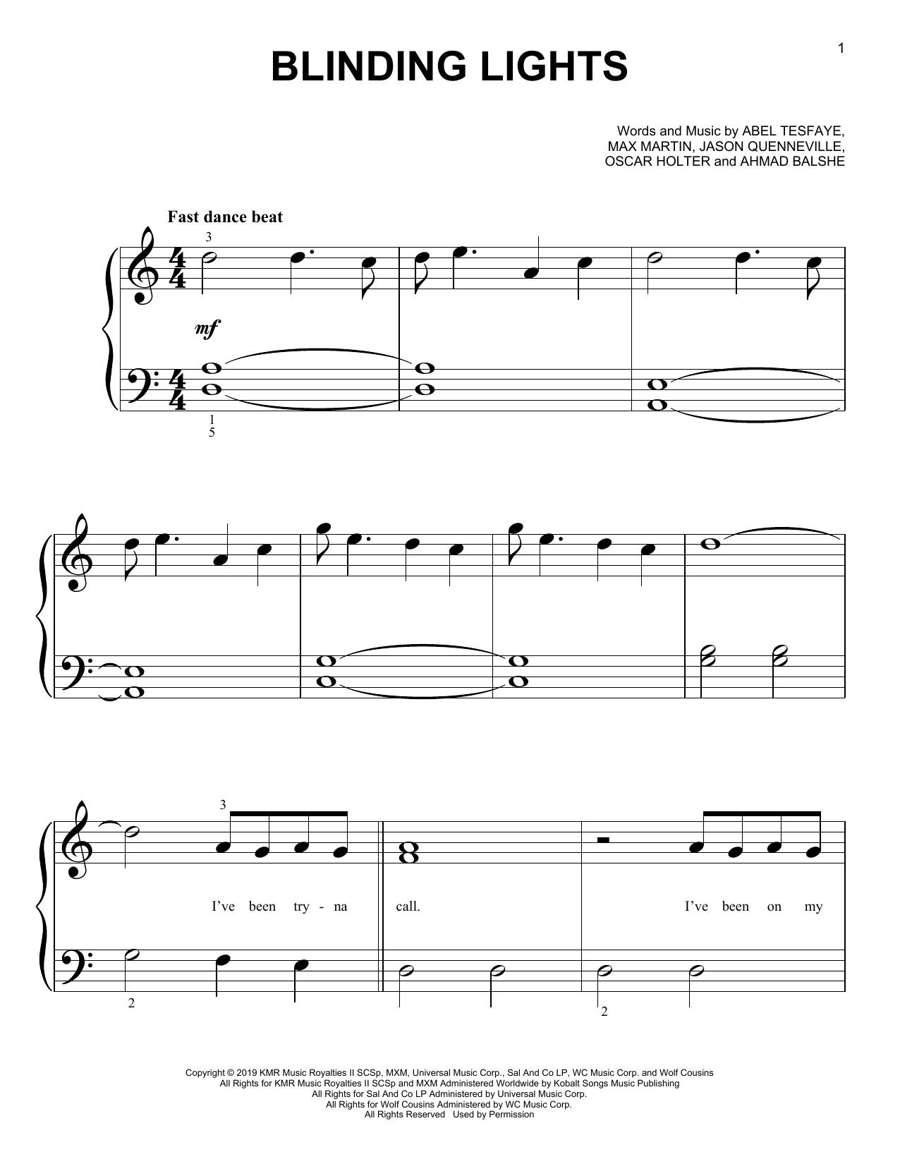 Blinding Lights (Big Note Piano)