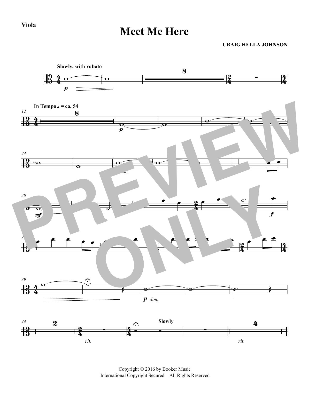 Meet Me Here (from Considering Matthew Shepard) - Viola Sheet Music