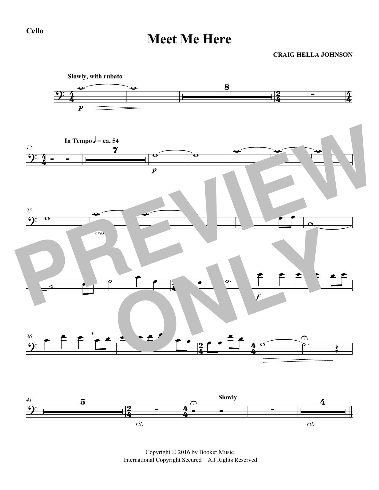 Meet Me Here (from Considering Matthew Shepard) - Cello Sheet Music