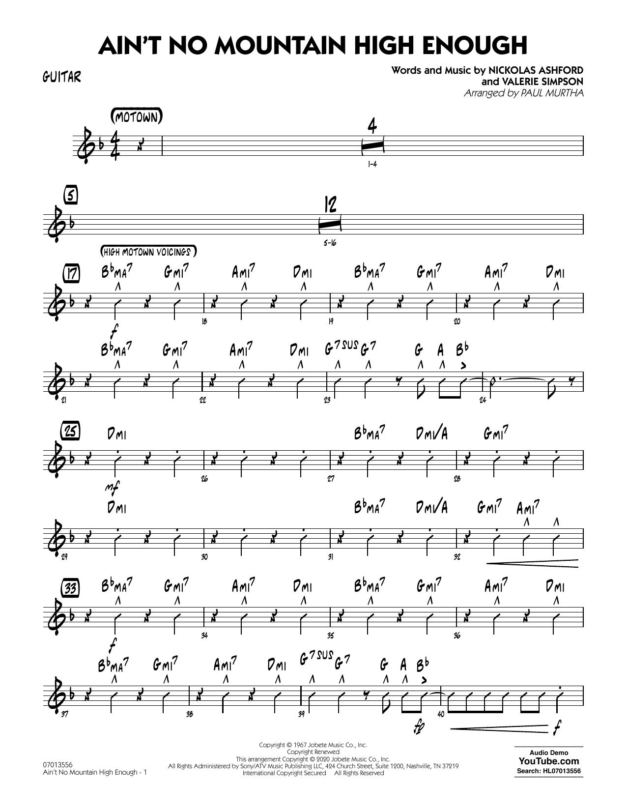Ain't No Mountain High Enough (arr. Paul Murtha) - Guitar Sheet Music