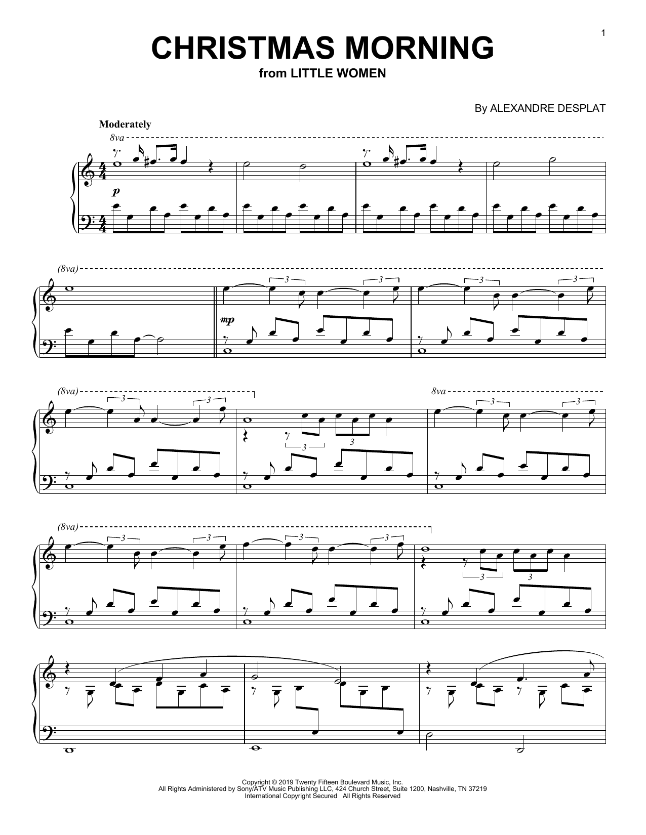 Christmas Morning (from the Motion Picture Little Women) Sheet Music