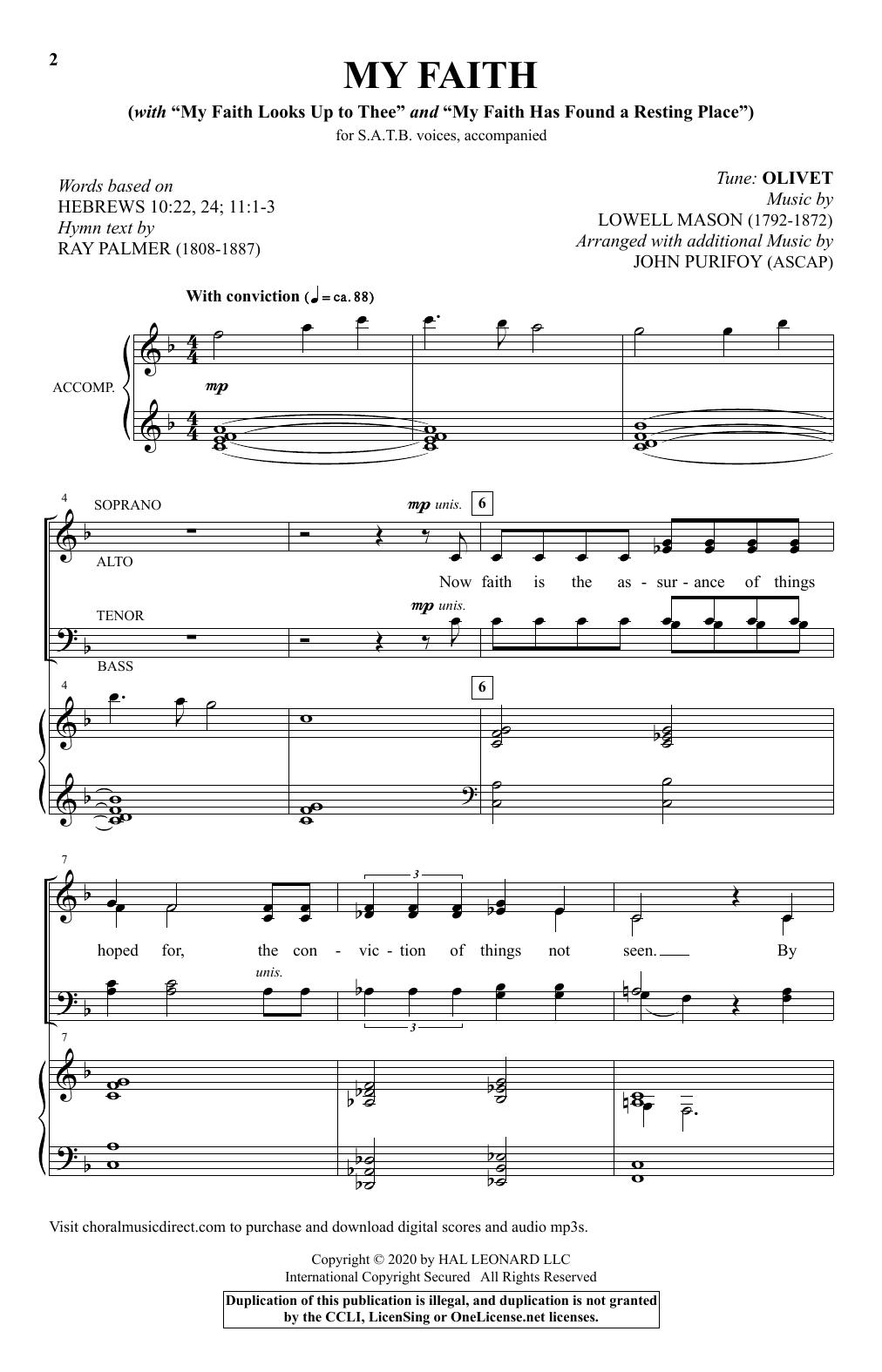 """My Faith (With """"My Faith Looks Up To Thee"""" and """"My Faith Has Found A Resting Place"""") (SATB Choir)"""